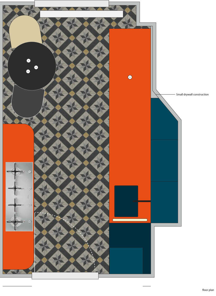 the kitchen floor plan courtesy of studio oink. 21