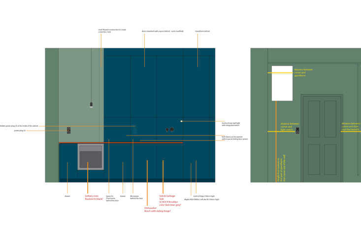 plans of the floor to ceiling storage cabinets courtesy of studio oink. 22