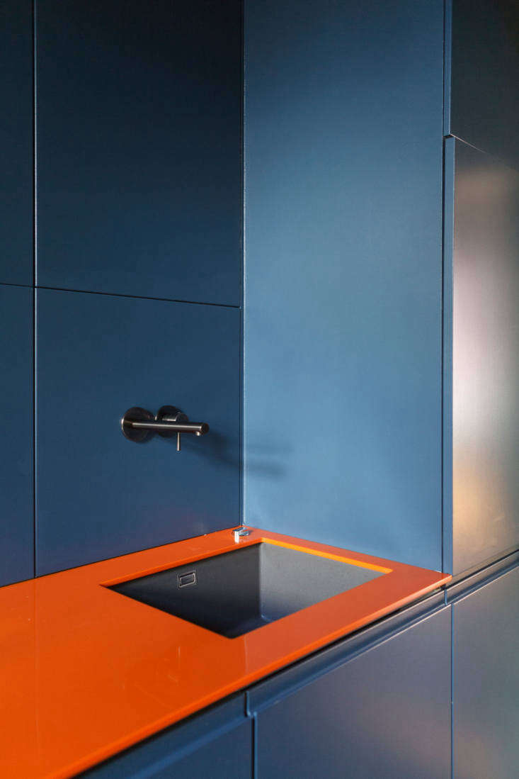 the faucet is a german herzbach ixpvd wall mount faucet in black steel and the  17