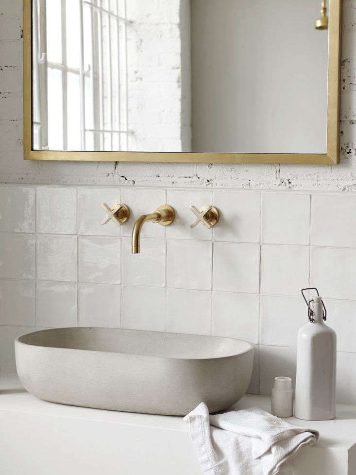 Wall Mounted Basin Taps with Cross Handles;£7.