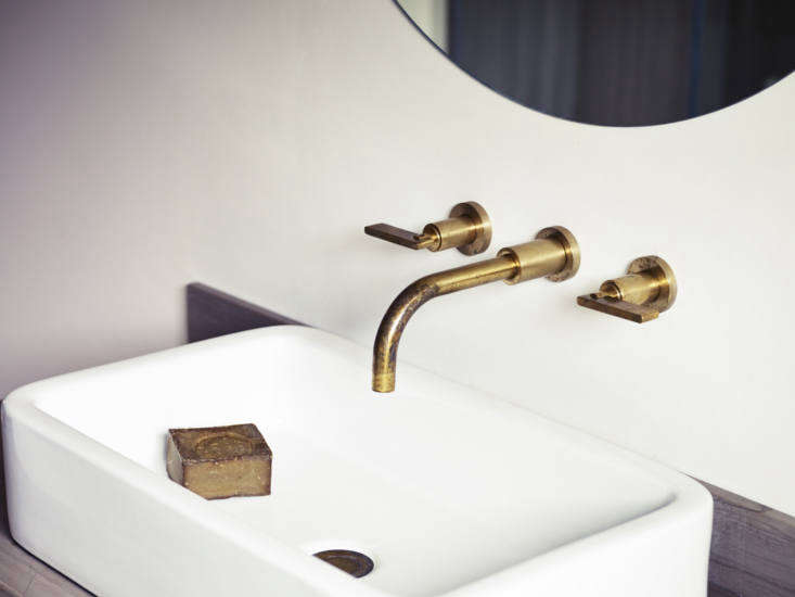 The Wall-Mounted Basin Taps are also available in polished brass and matte black; £7.