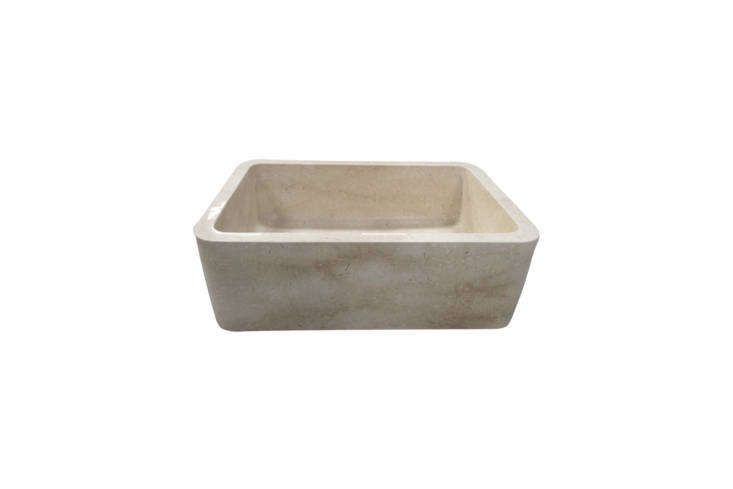 The Barclay Chandra 30-Inch Single Bowl Marble Farmer Sink is made from polished Egyptian Galala marble. Contact Barclay for price and ordering information.