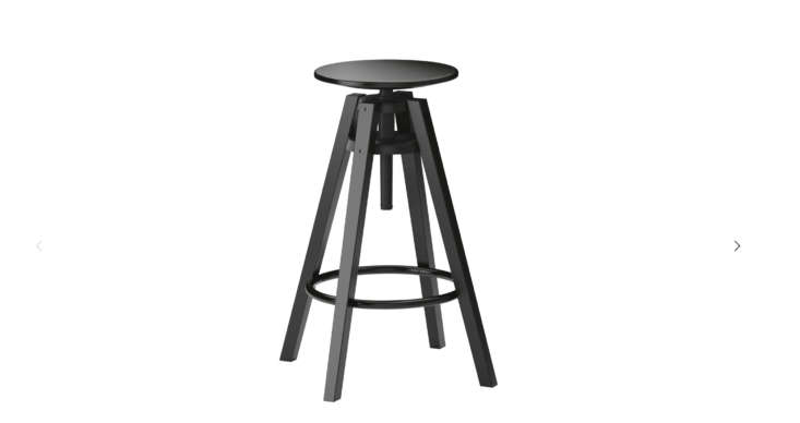 The solid birch adjustable Dalfred bar stool is $39.99 and is a reliable (and adjustable) option for kitchen counter seating.
