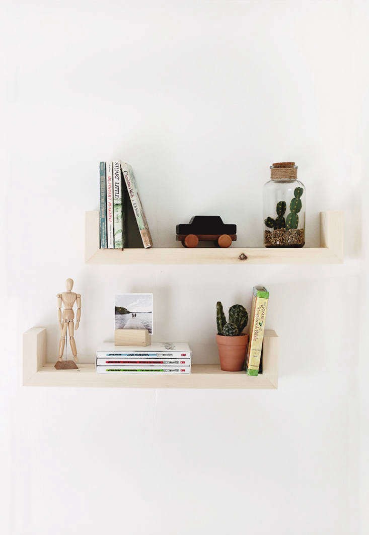 DIY Floating Shelves are made from