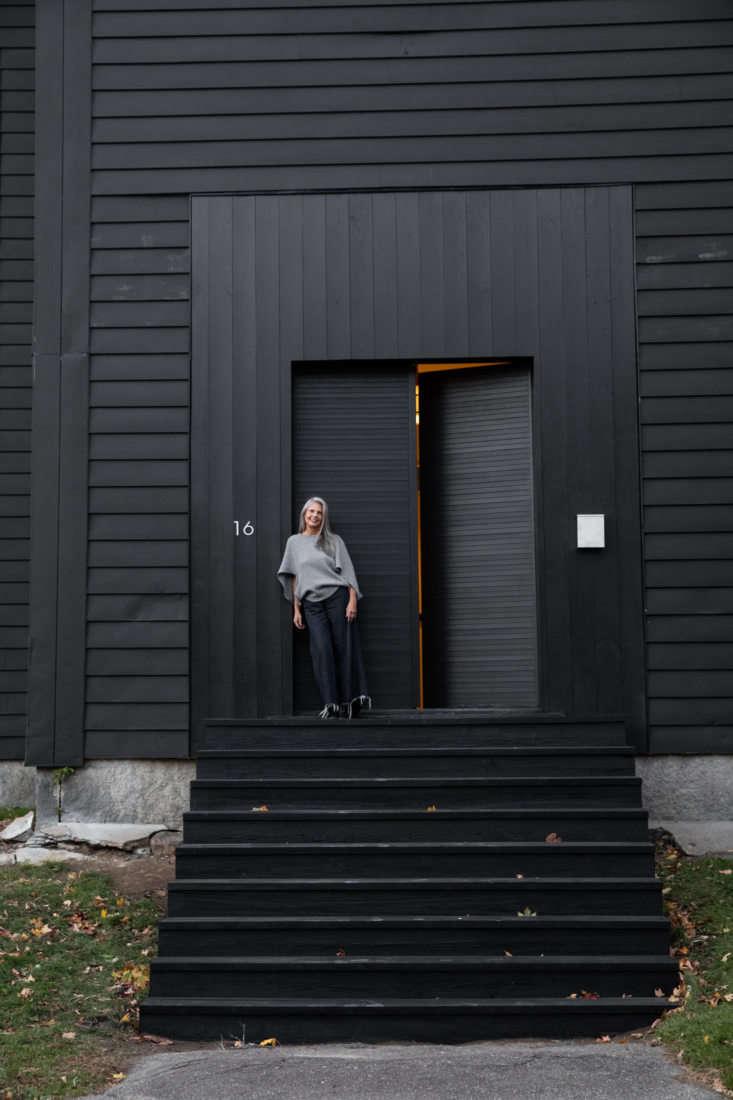 McNeil outside her rehabbed sanctuary.