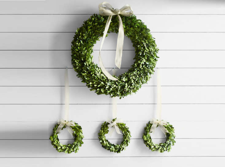 Julie will be greeting her holiday guests with a Preserved Boxwood Wreath on her front door, and likes the fact that she can use it again and again for years to come. It&#8