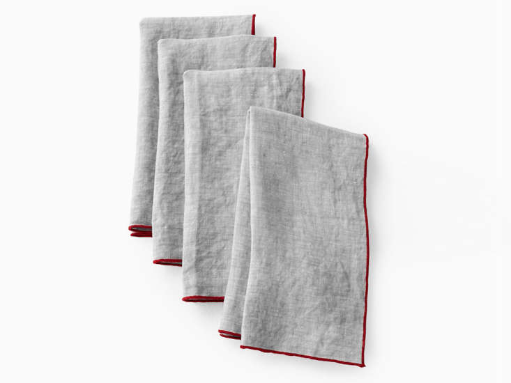 Margot likes the Relaxed Linen Napkins in Chambray as a hostess gift; $38 for a set of four. &#8