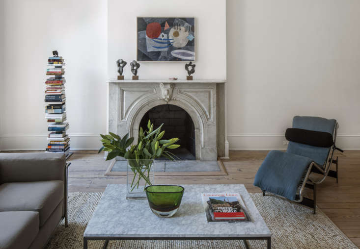 The 54 abstract painting over the mantel is byW. Mülle-Hufschmid.