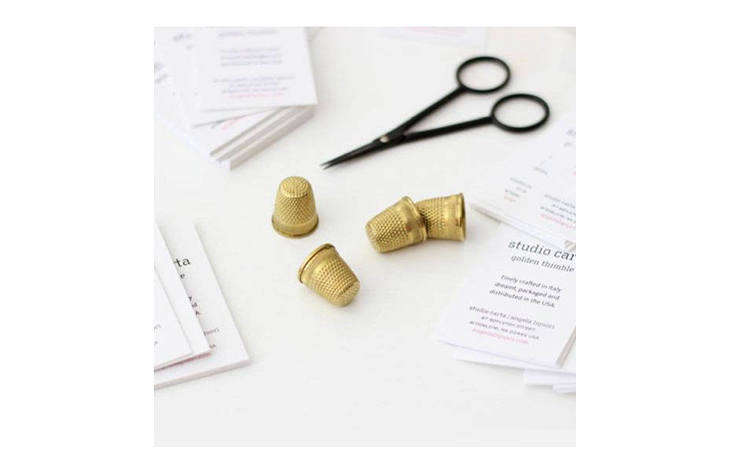 something special for the seamstress in your life, gold thimbles are plated in  23
