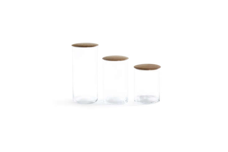 The Hawkins New York Simple Storage Containers come with a maple or oak top; prices from $ for the mini to $45 for the large.