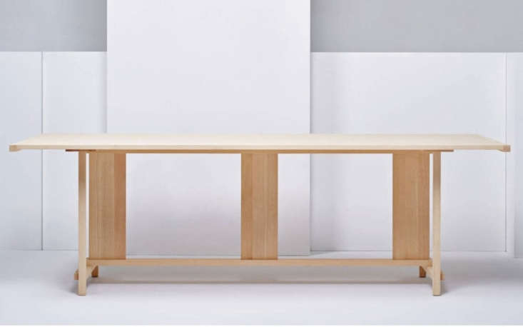 Made in natural ash by Konstantin Grcic for Mattizzi, the Clerici Dining Table is £