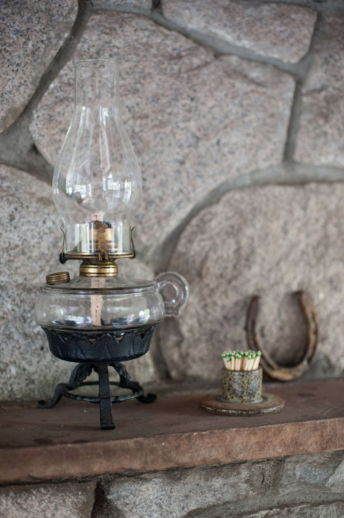 The kerosene lamp was a housewarming gift from a friend who picked it up on a visit home to Michigan: &#8