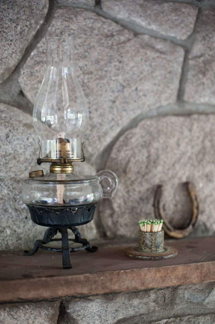 the kerosene lamp was a housewarming gift from a friend who picked it up on a v 11
