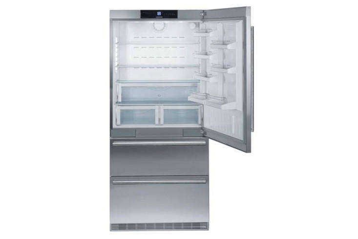 TheLeibherr HC-60 Built-In 36-Inch Refrigeratoroffers dual-compressor refrigeration at a significantly lower price point than Sub-Zero and Miele; it's Energy Star–rated and has garnered good consumer reviews. The shelving and lighting are not quite at the level of the top brands, but the freezer is conveniently divided into two drawers; $5,349 at Plessers. For more options see our post Easy Pieces: Built-In Refrigerators.