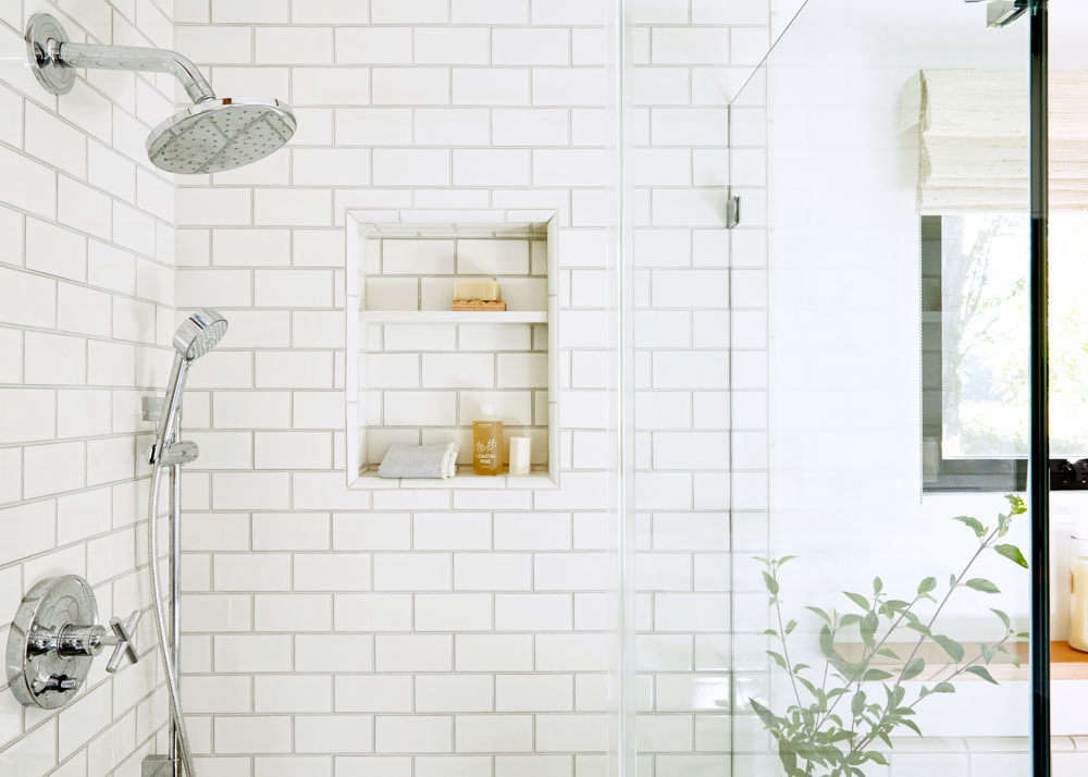 The shower fixtures are from Kohler&#8