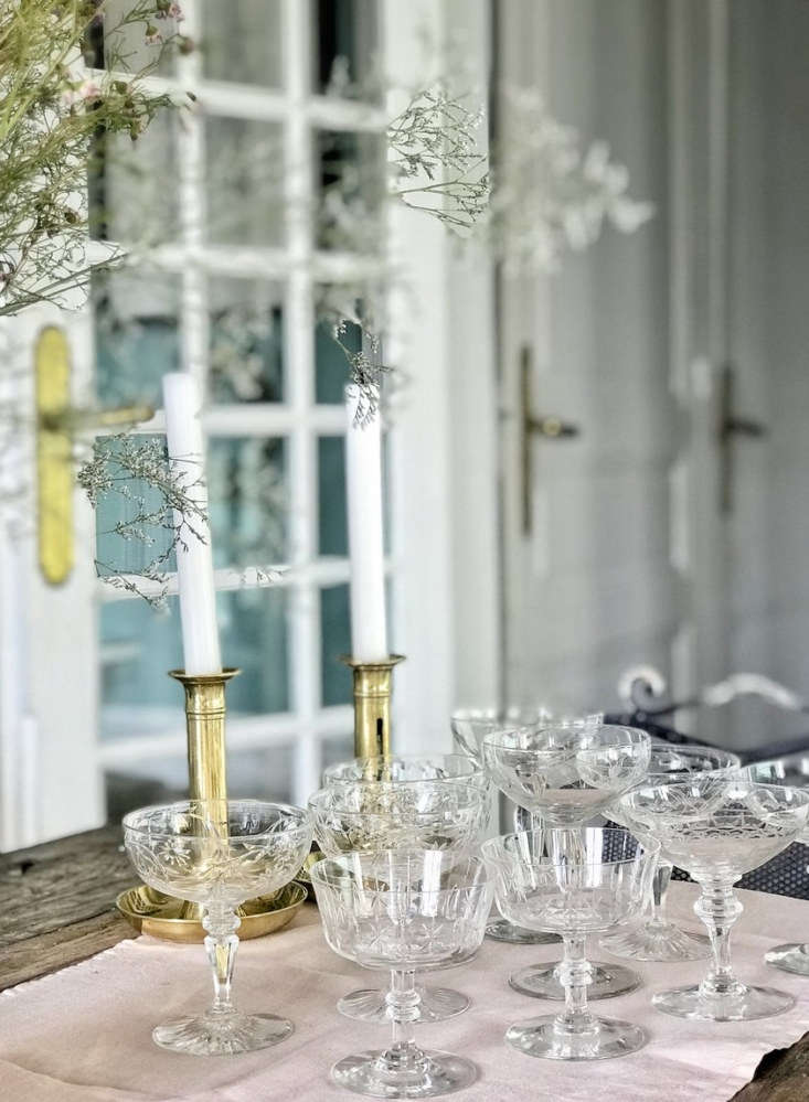 The vintage offerings are sometimes one-of-a-kind. Currently on offer: a set of six Mix-and-Match Champagne Coupes, all crystal, collected throughout France and put together by Aki; €75.