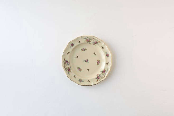 One of a set of Limoges Floral and Cream Dessert Plates, &#8