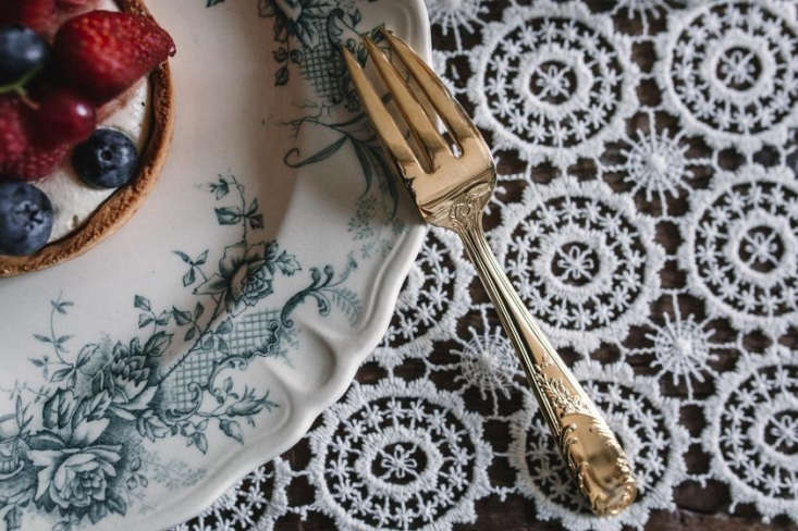 Dainty Lace Placemats, also found in Chatou, are €65 for a set of four.