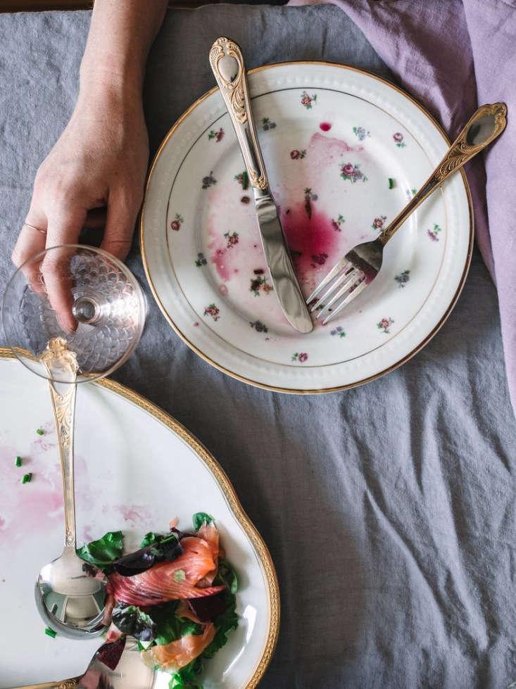 Linens and Antique Tableware from Madame de la Maison in Paris