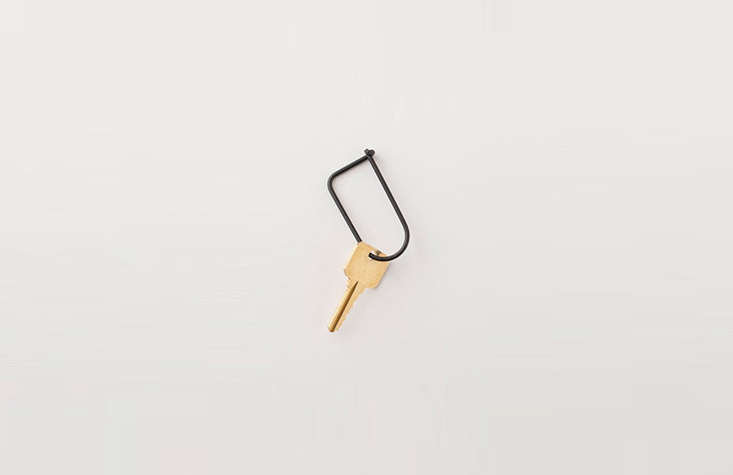 If your keys still occupy that free fob from your company or alma mater, it may be time for an upgrade. We recommend theMinimal Key Ring made from powder-coated stainless steel; at Schoolhouse for $.