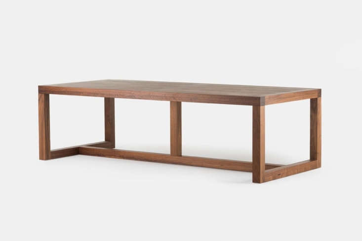 Designed by Neri & Hu for De La Espada, the Structure Table in American black walnut, American white oak, or European Ash in a range of finishes; $,0 at The Future Perfect.