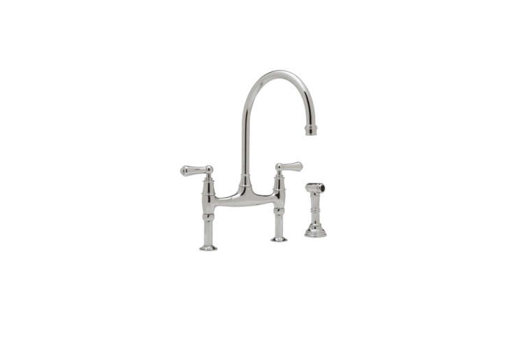 The Perrin & Rowe Bridge Kitchen Faucet with Side Spray (U.47L-EB-