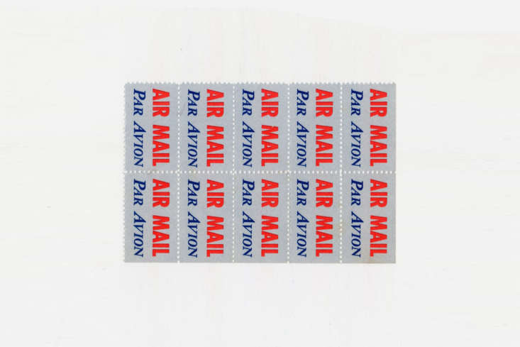 the airmail block (\1970s) of gummed airmail stamps for £4.50 at present & 12
