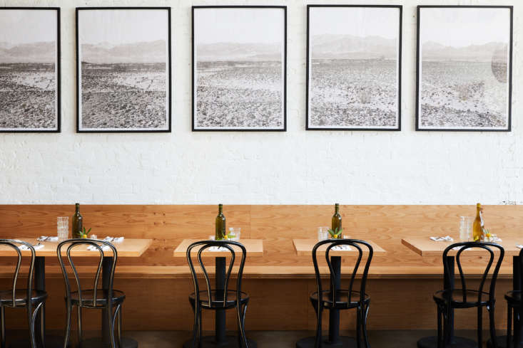 East Meets West Inside Range Life in California Along one wall of the dining room is another Marfa inspiration: a Donald Judd inspired banquette, made by Colin Wolberg, a friend and woodworker from New York.