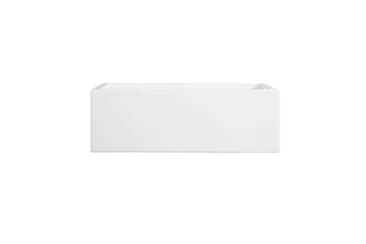 The 30-Inch Risinger Fireclay Farmhouse Sink in Smooth Apron White starts at $7 at Signature Hardware. For more see our post Easy Pieces: White Kitchen Farmhouse Sinks.