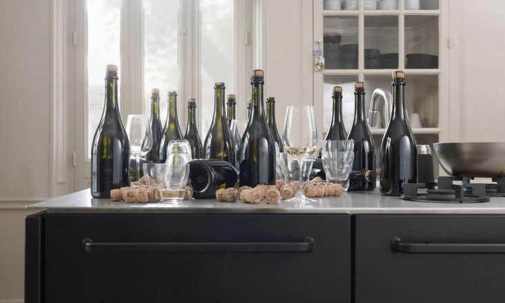 vipp kitchen champagne bottles vipp glasses