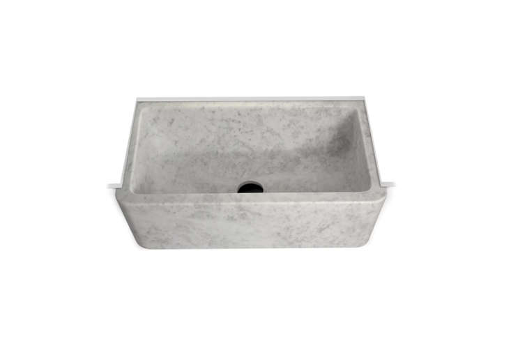 10 Easy Pieces Marble Farmhouse Kitchen Sinks The Waterworks Titan Marble Apron Farmhouse Kitchen Sink is \$7,347.