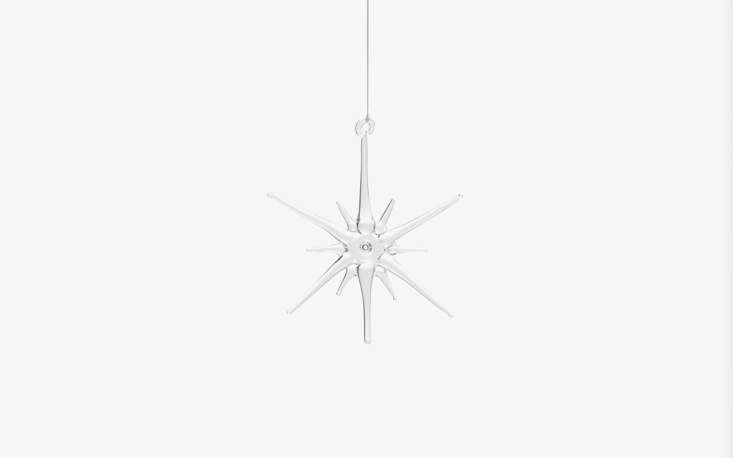justine is admiring this surprisingly well priced glassstar ornament from abc 12