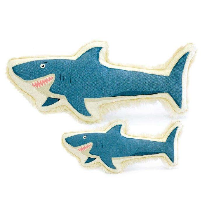 harry barker canvas shark dog toy