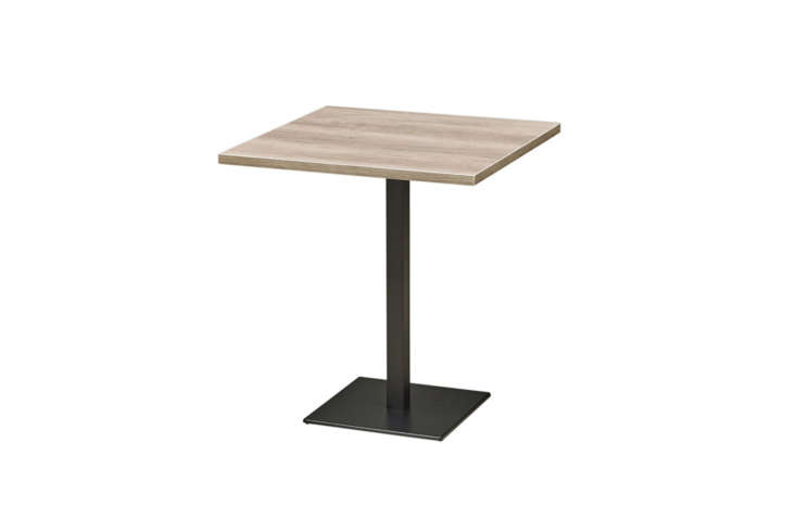 the maple tables were repurposed from the original space. for something similar 18