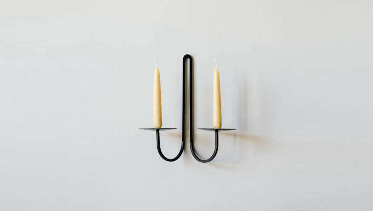 the smaller iron double arm candle holderis \$47 from june home supply (thoug 10