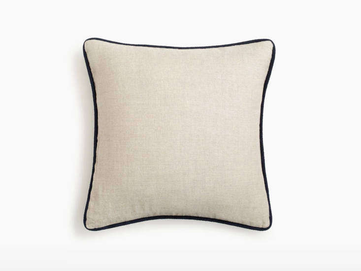 j crew home linen piped pillow raffia
