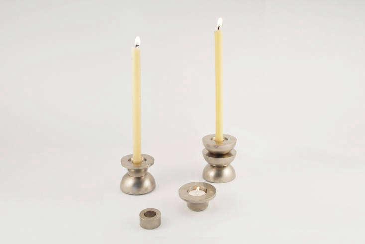nickel totem candle holder commune erbutler