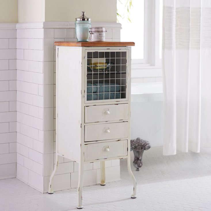 pier1 antique white bathroom cabinet hero