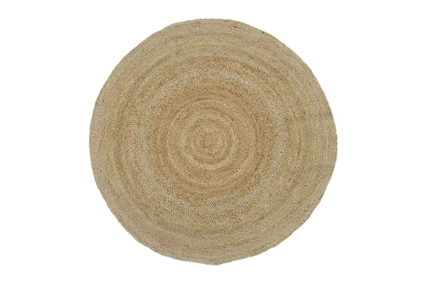 The Pottery Barn 8-Foot Round Jute Rug in Natural is $9.