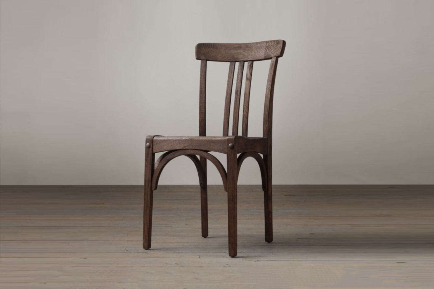 For something similar to the found vintage chairs surrounding the kitchen dining table, Restoration Hardware&#8