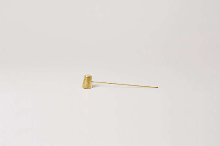 by stian korntved ruud, the long brass candle snuffer is \$80 cad at mjölk. 24