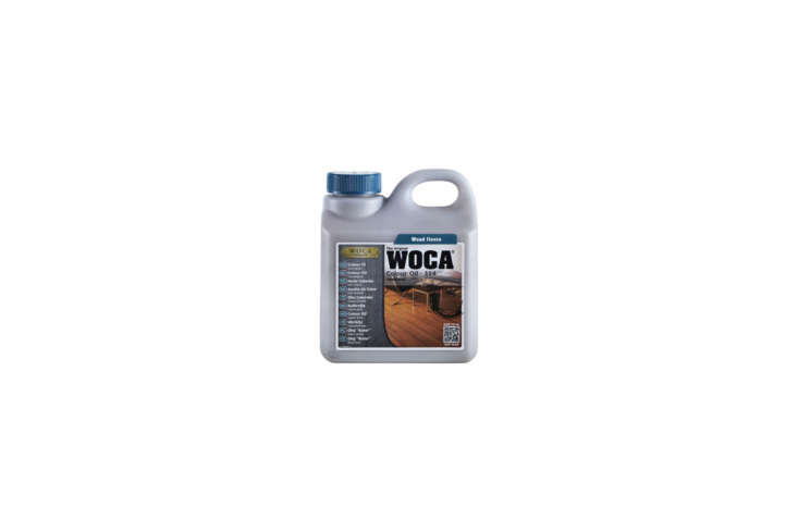 the tabletops were finished with woca denmark master color oil, a tinted oil fo 19