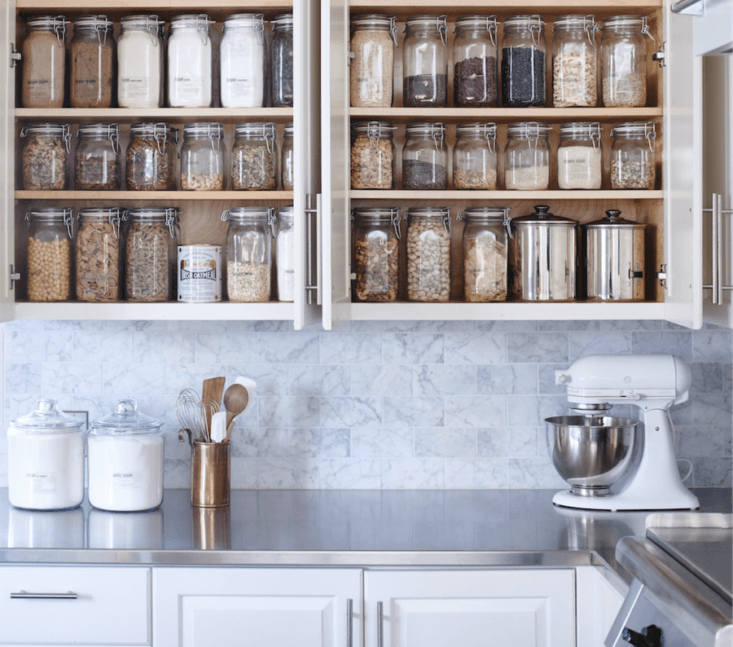 In addition to offering shopping and pantry kits, Wiebke Liu of Blisshaus, swoops in herself to reorganize errant cabinets (see, for instance, the Goop test kitchen). She offers a range of pantry and other kitchen makeovers, starting with a Consultation and Action Plan for $0. See her own Oakland, CA, kitchen, shown above, and read about her company&#8