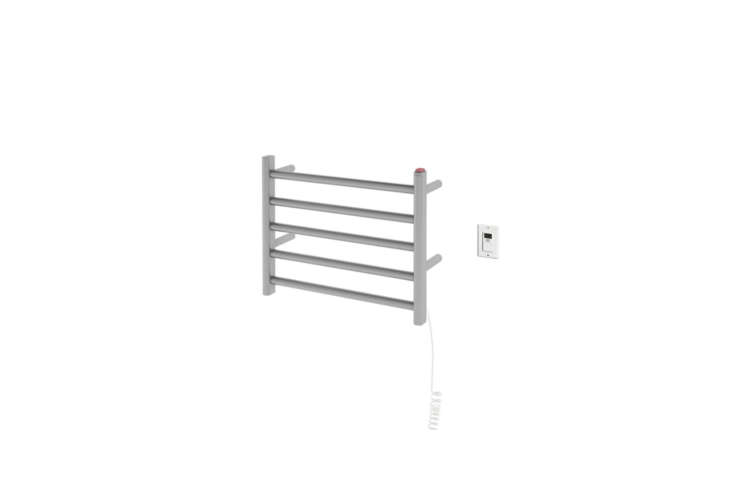 The compact Ancona Prima Dual Hardwired Electric Towel Warmer in Brushed Stainless Steel is $