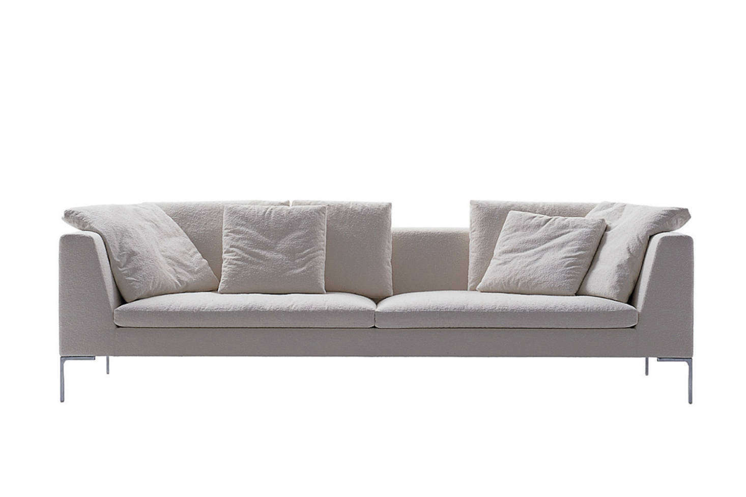 The Antonio Citterio-designedCharles Large Sofaby B&B Italia is a Remodelista favorite (see our post5 Favorites: The Ultimate Architect-Designed Sofa). It comes in a range of sizes and configurations, one of which has a chaise-like extension. Contact B&B Italia for pricing and more information.