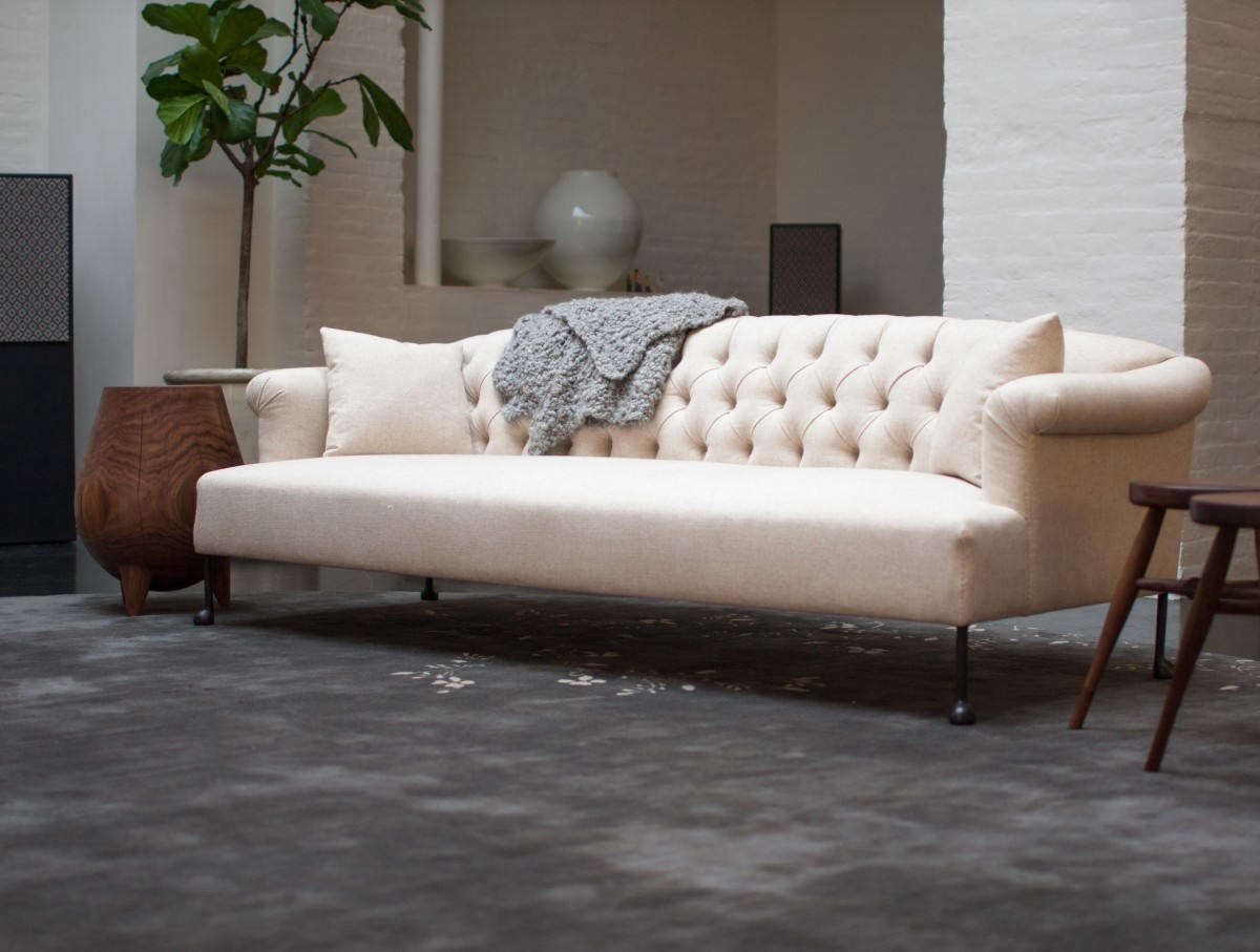 The luxe BDDWEdmund Sofa has a solid wood frame with mortise and tenon joinery. It&#8