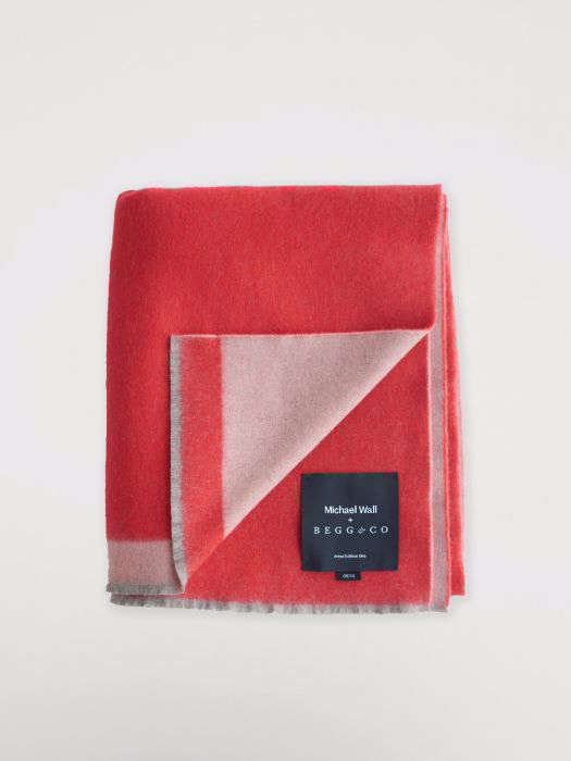 begg co red pink lambswool angora throw