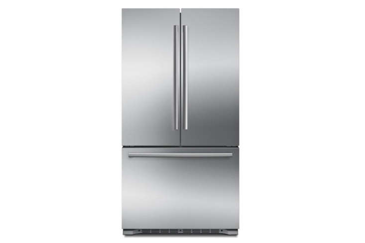 The Bosch 800 Series French Door Counter-Depth Refrigerator in Stainless Steel (B