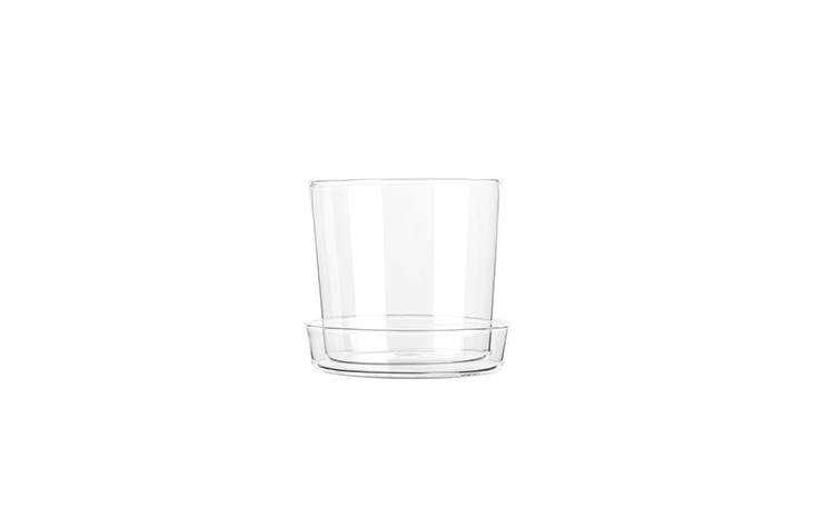 a glass flower pot, made of borosilicate glass, has a small hole in the bottom  17