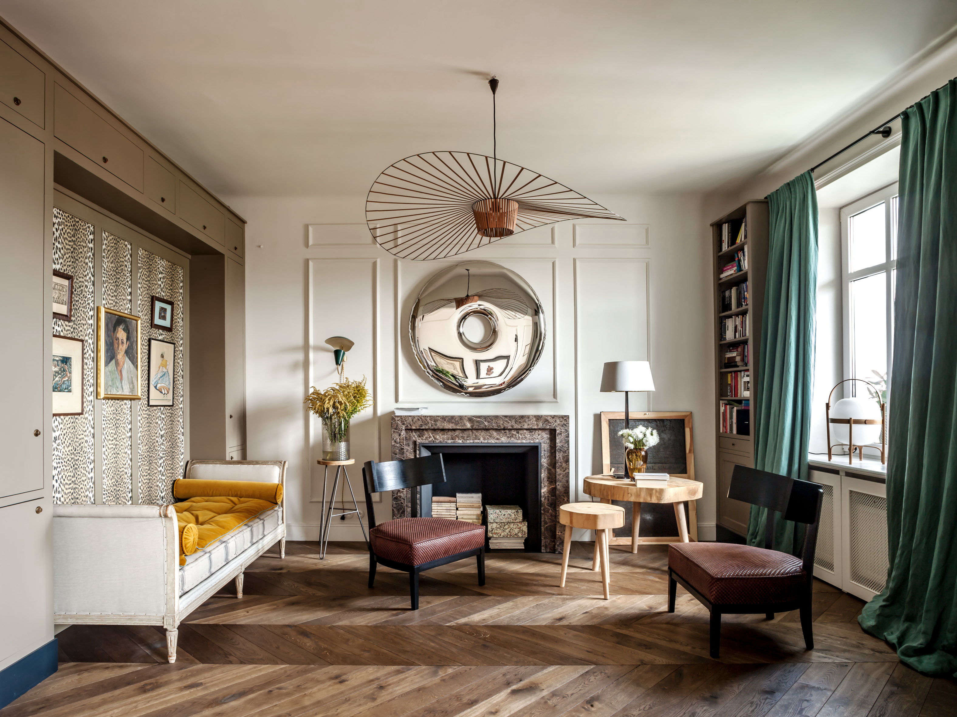 A Glam Pre-War Flat in Poland, Courtesy of Colombe Design (and eBay)